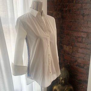 J. Crew white long sleeve button down shirt size 0